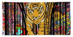 Graffiti Tiger Beach Towel