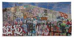 Beach Sheet featuring the photograph Graffiti Wall by Julia Wilcox