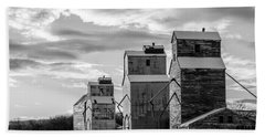 Granary Row In B W Beach Towel