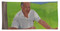 Grampa Wiegand Beach Towel