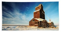 Grain Elevator Beach Towels