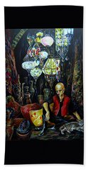 Grand Bazaar.the Cave Of Treasures Beach Towel by Anna Duyunova