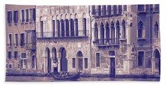 Grand Canal 2. Venice Italy Beach Sheet