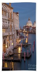 Beach Towel featuring the photograph Grand Canal Twilight II by Brian Jannsen