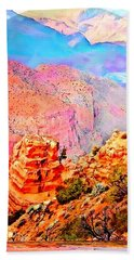 Beach Towel featuring the digital art Grand Canyon By Nico Bielow by Nico Bielow