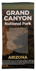 Grand Canyon National Park In Arizona Travel Poster Series Of National Parks Number 23 Beach Towel