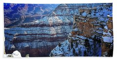 Grand Canyon National Park In Winter Beach Towel