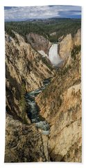 Grand Canyon Of The Yellowstone And Yellowstone Falls Beach Towel
