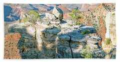 Beach Towel featuring the photograph Grand Canyon Rock Formations, Arizona by A Gurmankin