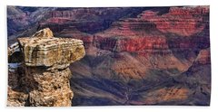 Beach Towel featuring the photograph Grand Canyon Stacked Rock by Roberta Byram