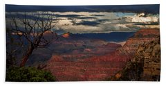Grand Canyon Storm Clouds Beach Towel