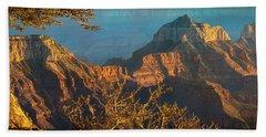 Grand Canyon Sunset Panorama Beach Sheet