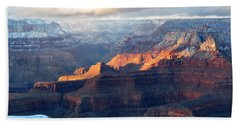 Grand Canyon With Snow Beach Sheet