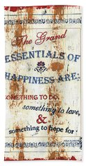 Grand Essentials Of Happiness Beach Towel