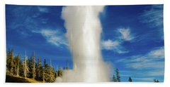 Grand Geyser Beach Towel