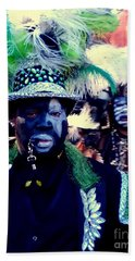 Grand Marshall Of The Zulu Parade Mardi Gras 2016 In New Orleans Beach Towel