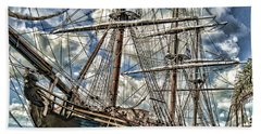 Beach Towel featuring the photograph Grand Old Sailing Ship by Roberta Byram