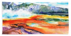 Grand Prismatic Hot Spring Beach Towel by Betty M M Wong