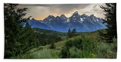 Beach Towel featuring the photograph Grand Stormy Sunset by David Chandler