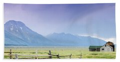 Grand Teton Homestead Beach Towel by Dawn Romine