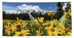 Grand Teton Mountains Beach Towel