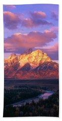 Grand Teton Sunrise Beach Towel