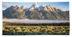 Grand Teton Sunrise Beach Towel by Serge Skiba