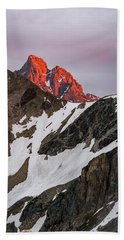 Grand Teton Sunset 2 Beach Towel by Serge Skiba