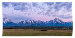 Grand Tetons Before Sunrise Panorama - Grand Teton National Park Wyoming Beach Towel