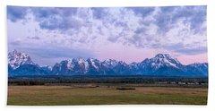 Grand Tetons Before Sunrise Panorama - Grand Teton National Park Wyoming Beach Towel