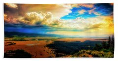 Grand Tetons - Lookout Point Beach Towel