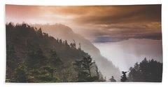 Grandfather Mountain Blue Ridge Mountains Of North Carolina Beach Towel