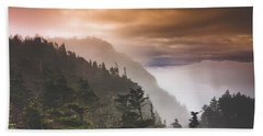 Grandfather Mountain Blue Ridge Mountains Of North Carolina Beach Sheet by Gray Artus