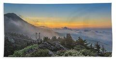 Grandfather Mountain Sunrise Beach Towel