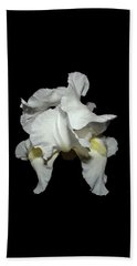 Grandma's White Iris Beach Towel