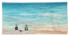 Beach Towel featuring the painting Grandmas View by Norma Duch