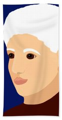 Beach Towel featuring the painting Grandmother by Marian Cates