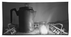 Grandmothers Vintage Coffee Pot Beach Sheet