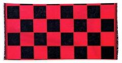 Grandpa's Checkerboard Beach Towel