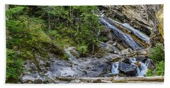 Beach Towel featuring the photograph Granite Falls by Yeates Photography