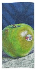 Beach Towel featuring the painting Granny Smith by Robert Decker
