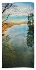 Grant Park - Lake Michigan Shoreline Beach Sheet by Jennifer Rondinelli Reilly - Fine Art Photography