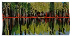 Grant's Lake Reflections Beach Towel