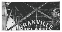 Granville Island Bridge Black And White- By Linda Woods Beach Towel