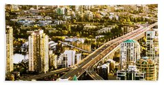 Granville Street Bridge Vancouver British Columbia Beach Towel