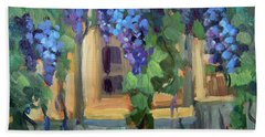 Grape Arbor Provence Beach Towel