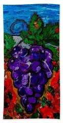 Grape Jazz Beach Towel