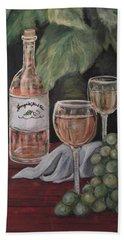 Grape Leaves And Wine Beach Towel