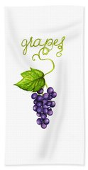 Beach Towel featuring the painting Grapes by Cindy Garber Iverson