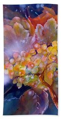 Grapes In A Misty Autumn Night Beach Towel